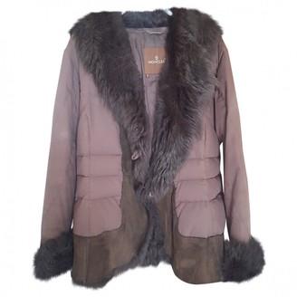 Moncler Brown Cotton Coat for Women