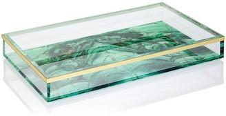 Spectrum Malachite Acrylic Tray