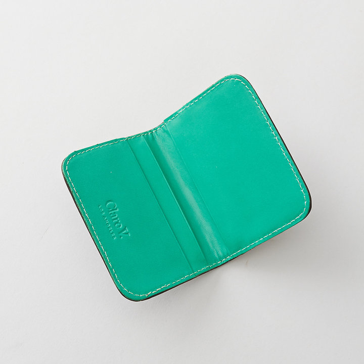 Amalfi by Rangoni CLARE V. card case black green