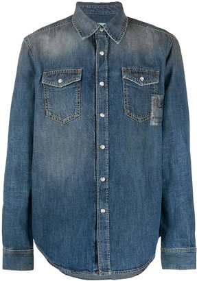 Givenchy Snap Button-Up Denim Shirt