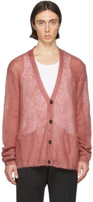 Maison Margiela Pink Mohair Cardigan