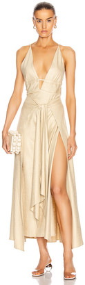 Cult Gaia Margot Dress in Sand | FWRD