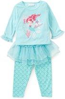 Sweet Heart Rose Little/Big Girls 2T-10 Mermaid Top, Printed Pants, & Tutu Pajama Set