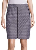 Tory Burch Chaumont Zip-Front Skirt