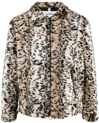 Soulland Leopard Print Faux-Fur Jacket