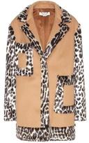 Stella McCartney Wool-blend And Faux Fur Coat