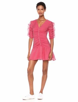 Keepsake Women's Boundaries Elbow Sleeve Shirred Short Mini Dress
