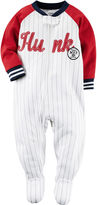 Carter's Boy Long-Sleeve Hunk Baseball Stripe Footed Pajamas - Baby Boys newborn-24m