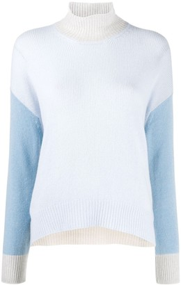 Marni Colour-Block Turtleneck Jumper