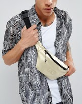 Asos Bum Bag In Gold Faux Leather