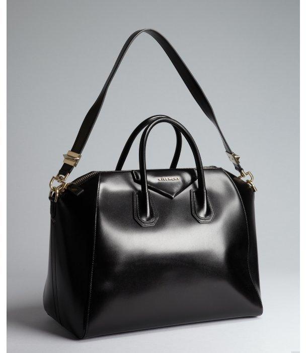 Givenchy black leather 'Antigona' crossbody large satchel