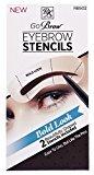 Kiss Go Brow Eyebrow Stencils Bold Look (6 Pieces)