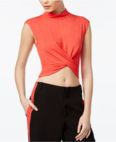 SHIFT Juniors' Knot-Front Crop Top, Only at Macy's