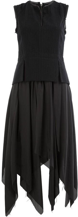 Masnada asymmetric full skirt dress