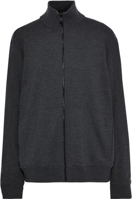 Vince Reversible Appliqued Wool And Shell Jacket