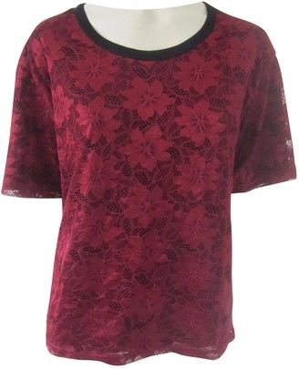 Dolce & Gabbana Red Lace Tops