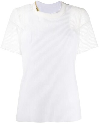 Sacai Double Layered Top