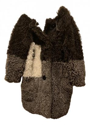 Fendi Grey Fur Coats