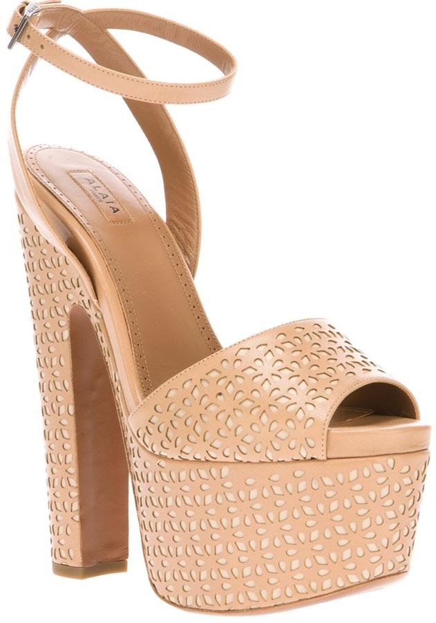 Alaia platform sandal