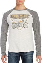 Lucky Brand Triumph Bike Raglan Sleeved Tee