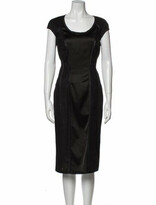 Thumbnail for your product : Blumarine Scoop Neck Midi Length Dress w/ Tags Black