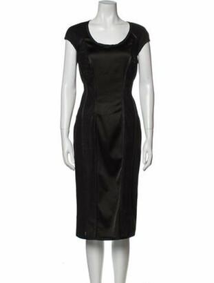 Blumarine Scoop Neck Midi Length Dress w/ Tags Black