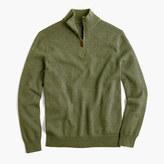 J.Crew Slim cotton-cashmere half-zip sweater