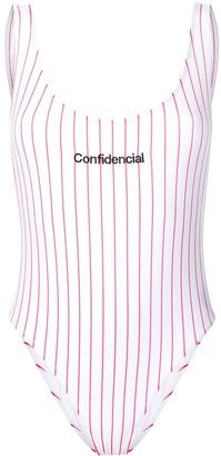 Marcelo Burlon County of Milan Confidencial striped swimsuit