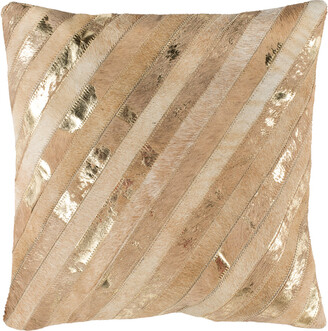 Safavieh Latta Metallic Cowhide Pillow