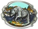 Fancy Apparel Unique Design 3D Hunting Alaska Grizzly Bear Belt Buckle Western Cowboy Navajo