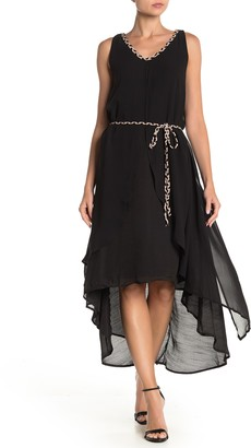 Papillon Sleeveless Layered High/Low Shift Dress