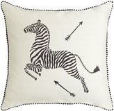"Scalamandre Maison by Eastern Accents Hand-Painted Parchment Pillow, 22""Sq."