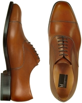 Moreschi Londra - Tan Calfskin Cap Toe Oxford Shoes