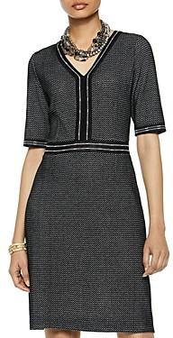 Misook V-Neck Birds-Eye-Knit Dress