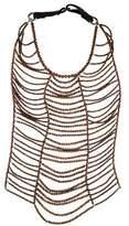 Brunello Cucinelli Hematite Monili Breast Plate Necklace