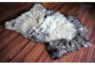 "Browder Animal Print Handmade 2'6"" x 3'5"" Sheepskin Beige/Brown Indoor / Outdoor Area Rug Millwood Pines"