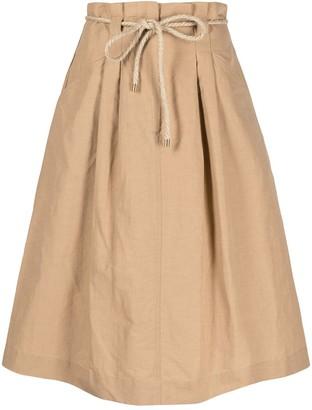 Seventy Tie-Waist Midi Skirt