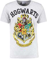 Logoshirt Harry Potter Hogwarts Print Tshirt Grey Melange