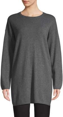Eileen Fisher Heathered Cashmere Tunic Sweater