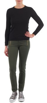School Rag LOY COMFORT DYED USED women's Skinny Jeans in Green