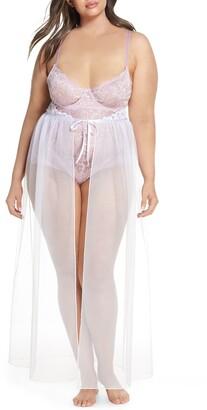 Oh La La Cheri Jeana Sheer Mesh High Waist Slip Skirt