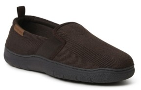Dearfoams Henry Herringbone Closed Back with Twin Gore Slipper Men's Shoes