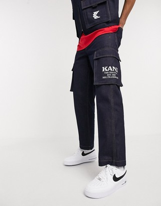 Karl Kani Denim baggy utility jeans in blue