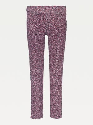 Tommy Hilfiger Corduroy Floral Print Skinny Fit Trousers