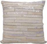 Michael Amini Stripes Square Throw Pillow