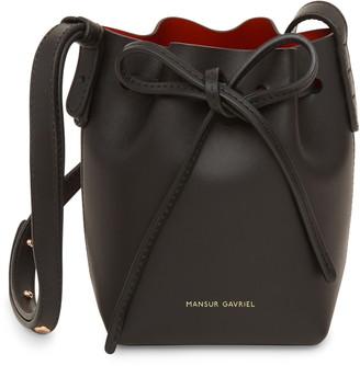 Mansur Gavriel Baby Leather Bucket Bag
