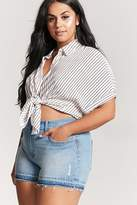 Forever 21 Plus Size High-Rise Denim Shorts