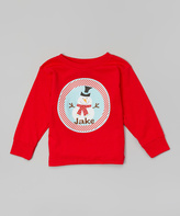 Swag Red Snowman Personalized Tee - Toddler & Boys