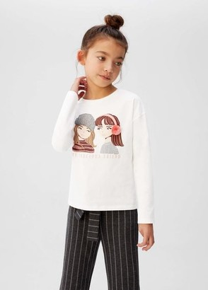 MANGO Embroidered details print t-shirt off white - 5 - Kids