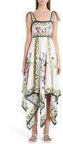 Dolce & Gabbana Women's Print Silk Handkerchief Hem Dress